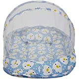 Amardeep Baby Mattress With Mosquito Net Duckling BLUE XL Size 90*55*6 Cms