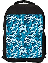 """Snoogg Abstract Military Pattern Casual Laptop Backpak Fits All 15 - 15.6"""" Inch Laptops"""
