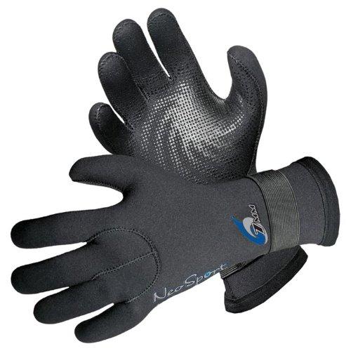Neosport 3mm Velcro Glove Pair Black Small SG30V-S