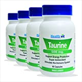 Healthvit Taurine Powder 500mg 60 Capsules (Pack Of 5)