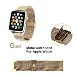 Apple Watch Band 38mm,Power-7 Milanese Loop Stainless Steel Mesh Replacement Strap With Metal Connectors Buckle...