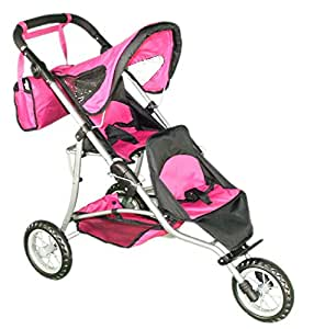 Amazon.com: Mommy & Me Doll Twin Stroller and Carriage Bag