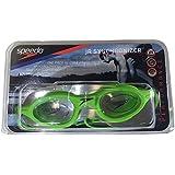 Speedo Junior Synchronizer Swim Goggles For Children UV Anti-Fog - GREEN, Fits Smaller, Narrower Faces/Green
