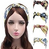 HONENNA Women's Print Turban Headband Head Wrap Knotted Style Hair Band