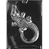 Cybrtrayd A067 Large Alligator Chocolate Candy Mold With Exclusive Cybrtrayd Copyrighted Chocolate Molding Instructions