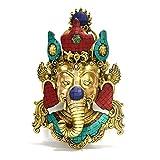 "15"" Large Wall Hanging, Ganesh Wall Mask Metal Sculpture, Wall Mount, Ganesh Wall Hanging Diwali Decor Gifts"