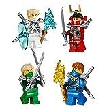 Lego Ninjago Set Of 4 Ninjas From Battle For Ninjago City 2015 Zane, Nya, Lloyd & Jay