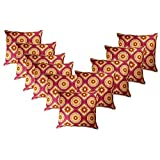 Belive-Me Geometrical Square & Circle Cushion Covers (16X16 Inches) Set Of 10