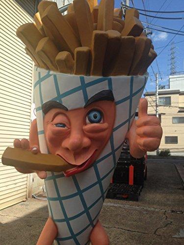 Big-size fries Man (life-size figures / menu board)