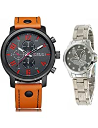 New Fashion Curren Chronograph Styled Leather Strap Military Wrist Watch With Butterfly Women Watch