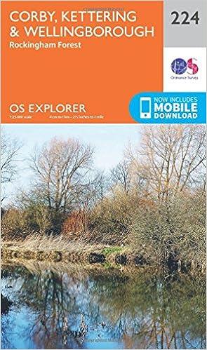 Northamptonshire walking map