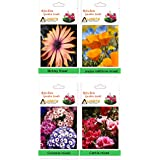 Alkarty Mesembryanthemum / Midday Flower, Poppy California Mixed, Cineraria Mixed And Clarkia Mixed Flower Seeds...