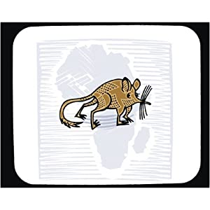 Decorated Mouse Pad with mammal, rat, animal, rodent