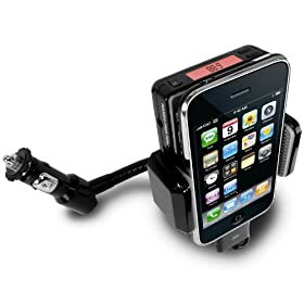 Accessory Power 2nd Generation Advanced Car Mount System for Apple iPhone 3G and 3GS / iPod Touch 2nd and 3rd Gen - Cutting Edge FM Chipset with New DC Surge Protection and Stabilized Flex-Neck
