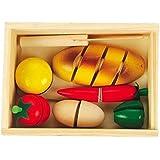 Wooden Educational Toy Breakfast Breakfast Foods For Kids Safe Multicolored