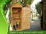 XL Holz Gerätehaus Geräteschuppen Gartenschrank Gartenhaus Gartenschrank Gartenschrank für den Außenbereich Spitzdach Universalschrank Aufbewahrungsschrank Werkzeugschrank