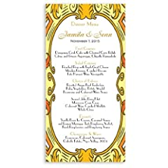 25 Wedding Menu Cards - Imperial