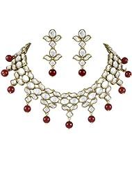 Red Eros Kundan Necklace Set