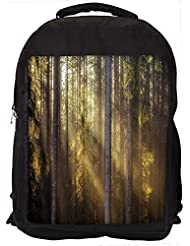 """Snoogg Sunlight In Forest Casual Laptop Backpak Fits All 15 - 15.6"""" Inch Laptops"""
