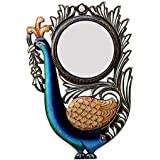 Ghanshyam Art Wood Peacock Wall Mirror (30.48 Cm X 4 Cm X 45.72 Cm, GAC078)