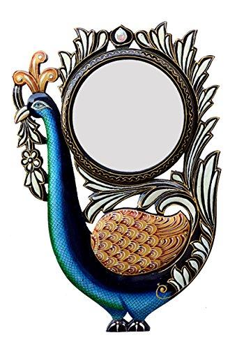 Ghanshyam Art Wood Peacock Wall Mirror (30.48 Cm X 4 Cm X 45.72 Cm, GAC078)