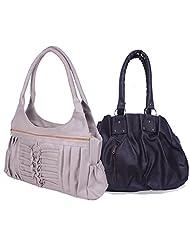 Arc HnH Women Combo Handbag Pretty Black + Magnificent Grey