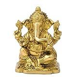 Redbag God Ganpati Maharaj Brass Figure ( 15.24 Cm, 10.8 Cm, 8.26 Cm )