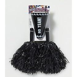 Cheerleader Pom Pom and Megaphone (Black)