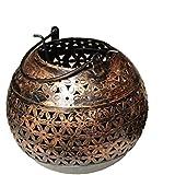 Crafticia Craft Traditional Rajasthani Decorative Iron Handicraft Metal Circular Tealight Candle Holder Bucket...