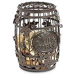 Great Bar Decor – Wine Barrel Cork Cage, Wine Corks Storage.