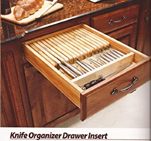 knife drawer insert knife organizer drawer insert 18 1 2 quot x 22 quot x 2 3 8 3588