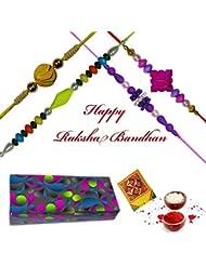 Charming Different Shape Rakhi : Set Of 4