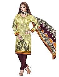 AASRI Party Wear Pure Cotton 3 Piece Unstitched Salwar Suit 504