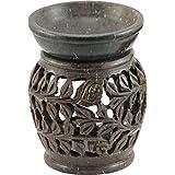 Craftly Valley Ceramic Tealight Candle Holder (8 Cm X 10 Cm X 8 Cm , Black) - B01DT53UKO