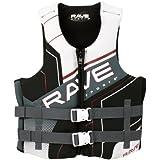 Rave Adult Dual Neo Life Vest (X-Large/XX-Large, White/Gray/Black), X-Large/XX-Large/White/Gray/Black
