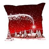 MeSleep Merry Christmas Cushion Covers In Digital Print - B018K9JIJQ