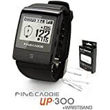 Golf GPS Range Finder FineCaddie UP-300(+Wrist Band & Cooling Arm Sleeves), Voice GPS, Wear Anywhere (Black)