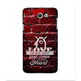 FUSON Designer Back Case Cover For Samsung Galaxy J5(2017) (that Comes From The Heart )
