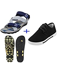 Bersache COMBO Pack Of 3 Pair Of Shoes Multicolor (Casual Shoe, Sandal & Slipper)