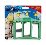 JW Pet Company Activitoys Fun House Mirror Bird Toy, Colors may Vary