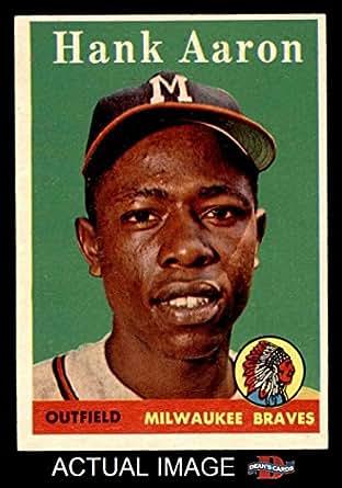 Amazon.com: 1958 Topps # 30 WN Hank Aaron Milwaukee Braves