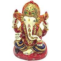"""4"""" Rajasthani Handicraft Handpainted Pagadi Ganesha / Turban Ganesha / Meenakari Painting Ganesha / Hand Made..."""