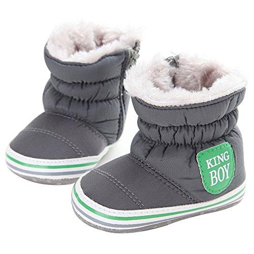 LianLe Schneeschuhe Winterschuhe für Baby 0-1 Jahre Prewalker mit Weich Sohle Warm und Nett Shoes Booties