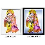 DollsofIndia Radha Krishna Plug-on Night Lamp With Adaptor - Acrylic