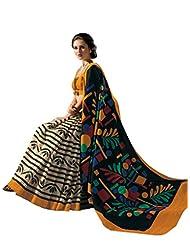 De Marca Black Raw Silk Designer A2408 Saree