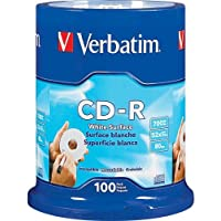 CD-R 700MB 52x Write Once Blank White Surface Recordable Compact Disc Spindle Pack Of 100 And Free 6 Feet Netcna...