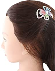Anuradha Art Black Colour Styled With Multi Colour Stone Hair Accessories Hair Cilp For Women/Girls