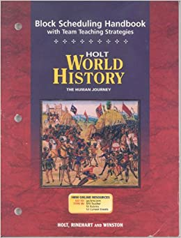 Holt World History The Human Journey ISBN 0030657490 Main Idea Activities for English Language
