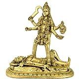 """Redbag """"Goddess Mahakali"""" - Brass Sculpture ( 12.50""""H X 11.50""""W X 5.75""""D )"""