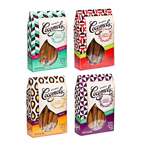 Cocomel Coconut Milk Caramels - Earth Kosher Parve - Variety Flagship Boxes (4 Pack) (4 oz Each)